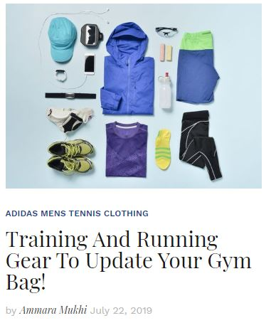 Training and Running Gear for your Gym Bag blog