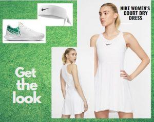 Simona Halep Wimbledon Tennis Whites