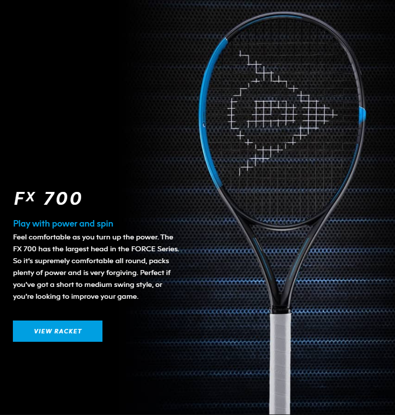 Dunlop FX 700 Tennis Racquet