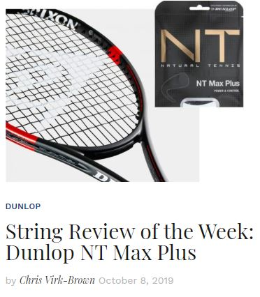 Dunlop NT Max Plus String Review blog thumbnail