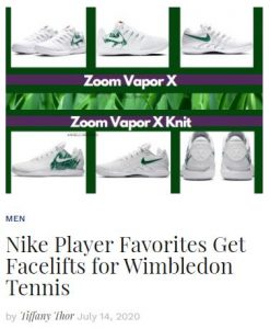 Nike Tennis Shoes for London 2020 blog