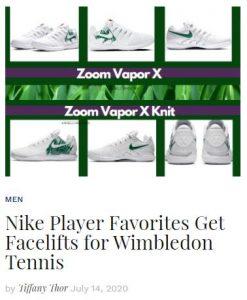 Nike Tennis Shoes for London 2020 blog