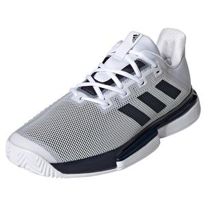 adidas SoleMatch Bounce Tennis Shoes White and Legend Ink