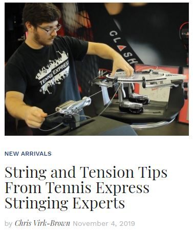 String and Tension Tips From Tennis Express Stringing Experts blog