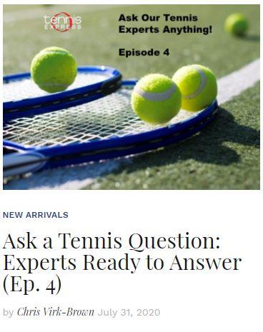 Ask a Tennis Expert Episode 4 blog