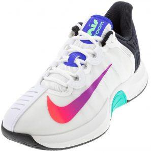 Nike Women's GP Turbo Tennis Shoe Summit White and Black