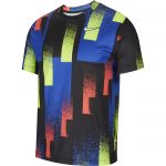 MENS COURT DRY PRINTED TENNIS TOP HYPER ROYAL AND WHITE