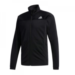 Adidas Men's 3 Stripes Knit Tennis Jacket Black