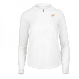 New Women's Tennis Jackets Asics Women's Long Sleeve PR Tennis Top Brilliant White