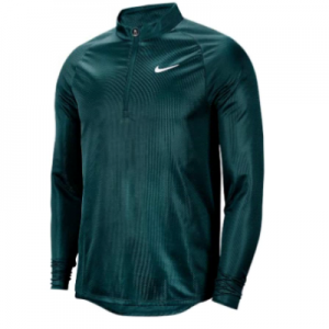 New Tennis Jackets Nike Men's Court Challenger Long Sleeve Half Zip Tennis Top Dark Atomic Teal