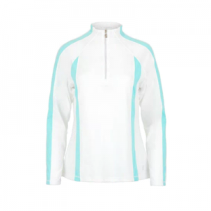 New Tennis Jackets_ Sofibella Women's Long Sleeve Tennis Top White and Air