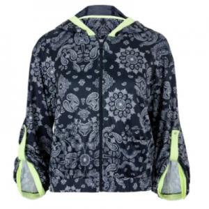 Lucky In Love Women's Bandana Bell Sleeve Tennis Jacket Midnight