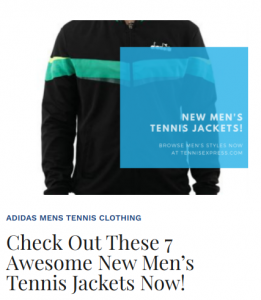 New Men's Tennis Jackets
