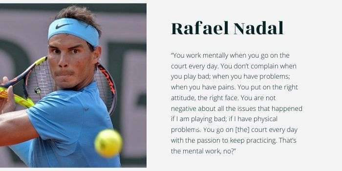 Top tennis questions Nadal quote