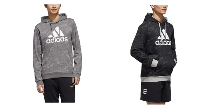men's training gear adidas essential allover print hoodie
