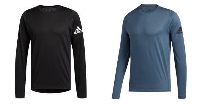 men's training gear adidas freelift sport solid badge of sport long sleeve top