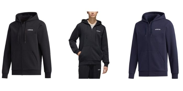 men's training gear adidas essential feelcozy fleece hooded track jacket