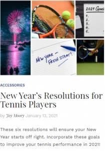 New Year's Resolutions for Tennis Players