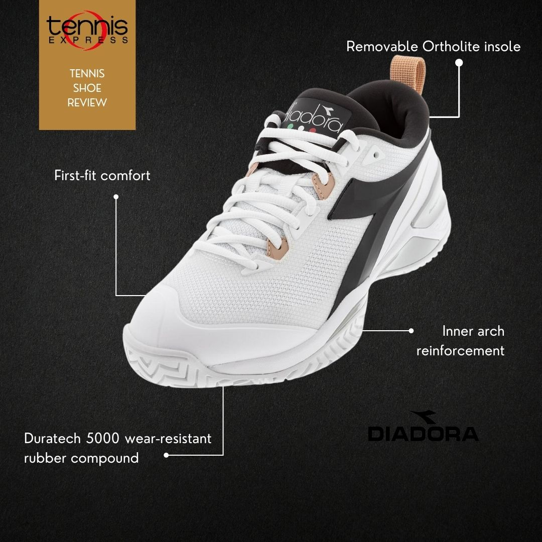 Tennis Shoe Review ~ A look @Diadora Speed Blushield 5 AG