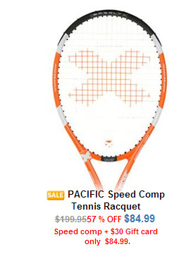 Pacific Speed Comp Racquet and Gift Card Bundle
