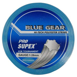 PRO SUPEX BLUE GEAR TENNIS STRINGS 16G/1.28MM
