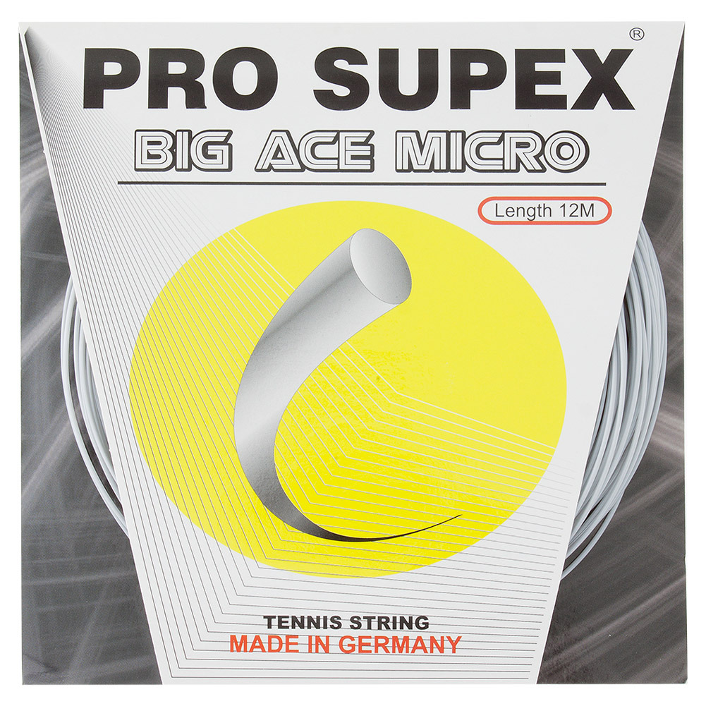 Big Ace Micro 1.15mm/19g Tennis String Silver
