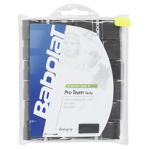 BABOLAT PRO TEAM TACKY OVERGRIP BLACK 12 PACK