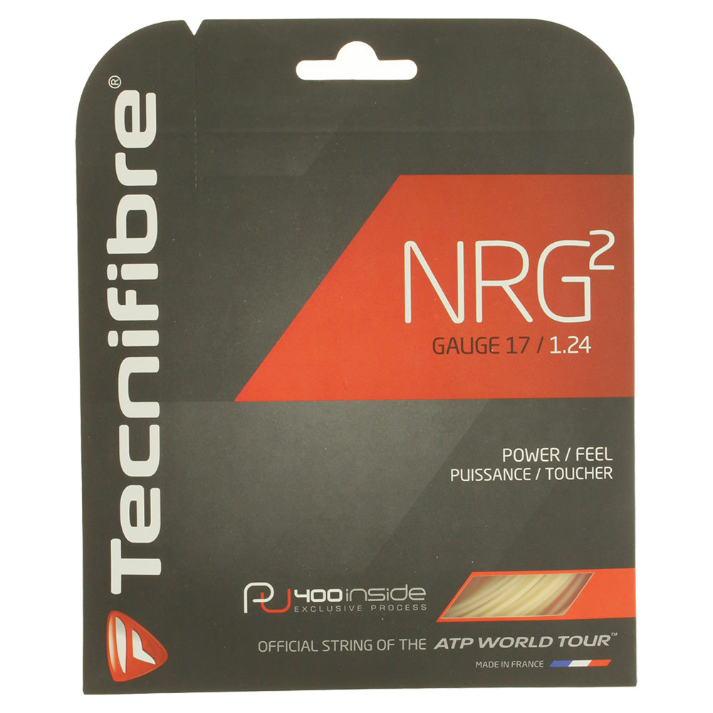 Nrg2 17g Tennis Strings Natural