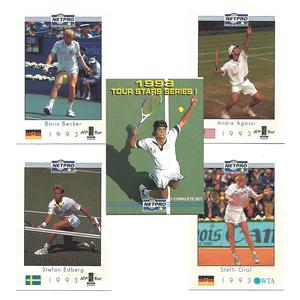 NETPRO TOUR STAR TENNIS CARD SET