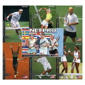 NETPRO International Series Tennis Trading Cards Display Box