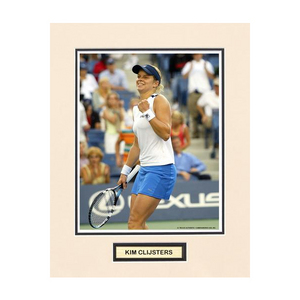 ACE AUTHENTIC KIM CLIJSTERS MATTED PHOTO 1