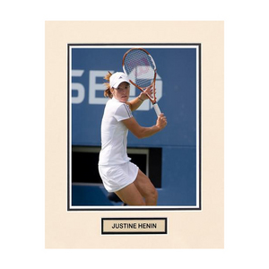 ACE AUTHENTIC JUSTINE HENIN MATTED PHOTO