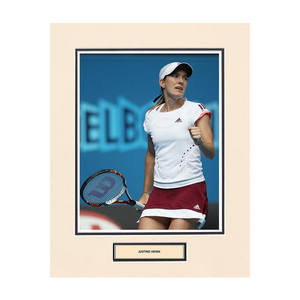 ACE AUTHENTIC JUSTINE HENIN MATTED PHOTO 1