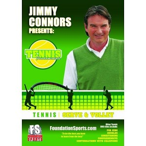 TENNIS FUNDAMENTALS Jimmy Connors Serve and Volley DVD