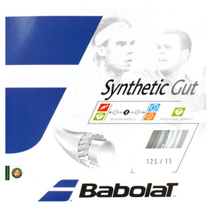 BABOLAT SYNTHETIC GUT 17G WHITE STRINGS