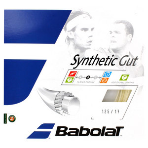 BABOLAT SYNTHETIC GUT 17G NATURAL STRINGS