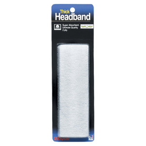 TOURNA THICK HEADBAND WHITE