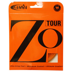 GAMMA ZO TOUR TENNIS STRINGS 16G/ 1.30 MM OR