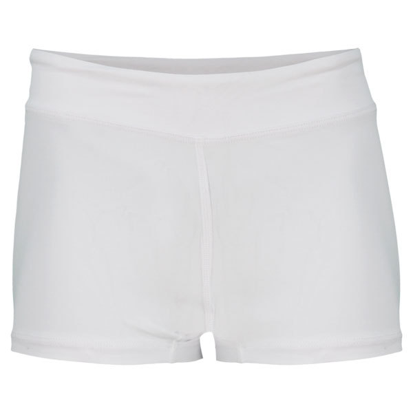 Women's Wide Band Low Rise Tennis Shorties White