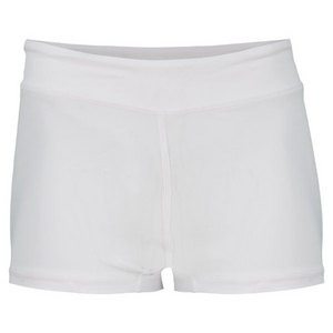Women`s Wide Band Low Rise Tennis Shorties White