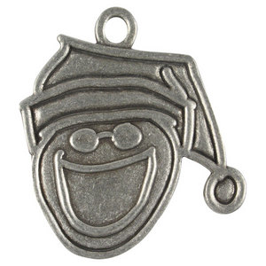 LIFE IS GOOD PEWTER ORNAMENTS SANTA JAKE