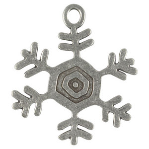 LIFE IS GOOD PEWTER ORNAMENTS SNOWFLAKE