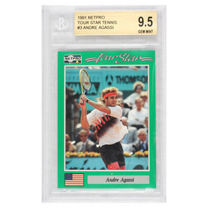 NETPRO ANDRE AGASSI ROOKIE CARD