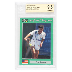 NETPRO PETE SAMPRAS ROOKIE CARD