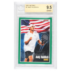 Andy Roddick 2001 NETPRO Tour Star Rookie Card (Beckett Rated)