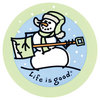 LIFE IS GOOD 4 Sticker Jammin Snowman