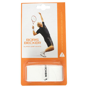 BORIS BECKER SUPER GRIP WHITE 3 PACK OVER GRIP