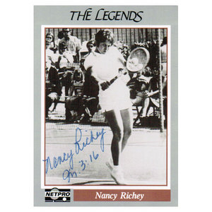 NETPRO NANCY RICHEY SIGNED LEGENDS CARD