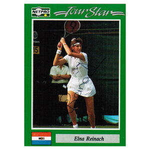 NETPRO ELINA REINACH SIGNED WOMENS CARD