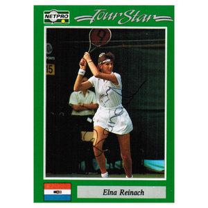 NETPRO ELINA REINACH SIGNED WOMENS CARD